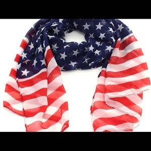 COMING SOON American flag pentagram chiffon scarf